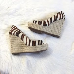 Vince Camuto Cow Hair Animal Print Wedges